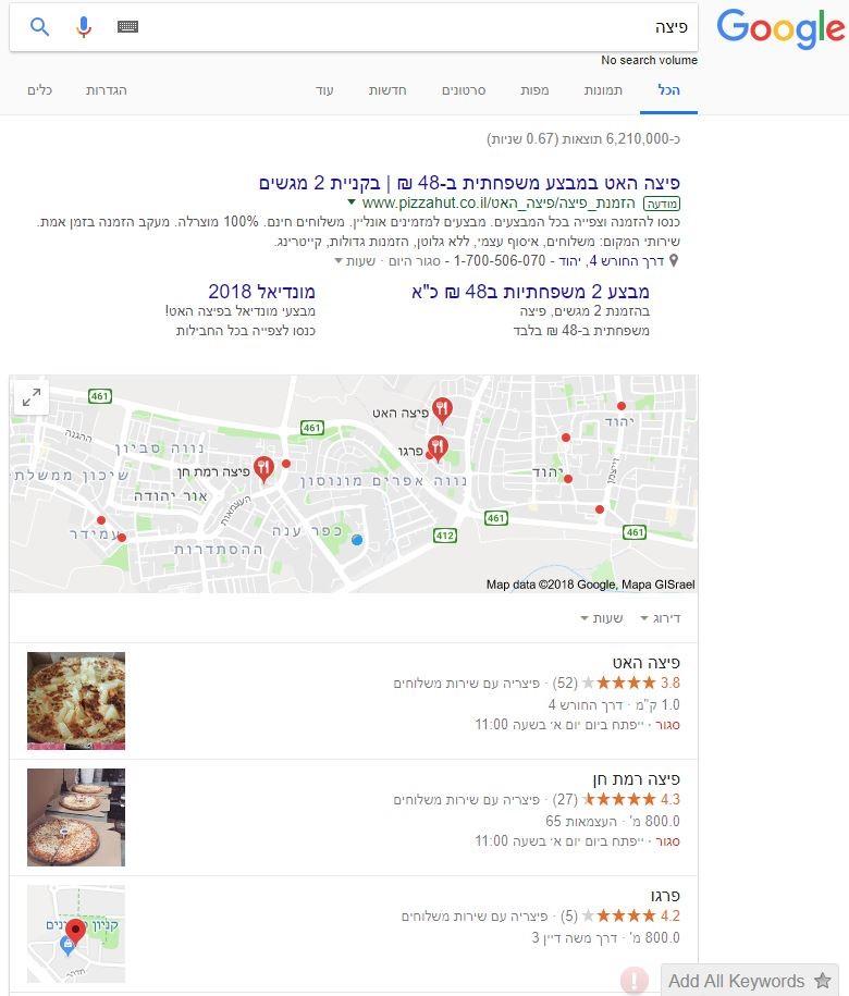 דוגמא לחיפוש מקומי